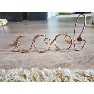 """Cool"" cursive wall decor! Copper color. NWOT"